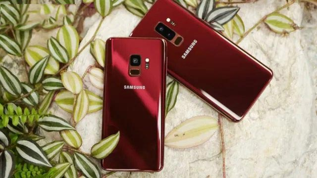 Samsung Galaxy S9 S9 Plus Burgundy Red Available