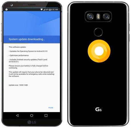 LG G6 Sprint USA Oreo OTA Official Update