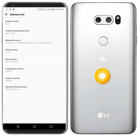 LG V30 T-Mobile Oreo OTA Update H93220h OPR1.170623.026