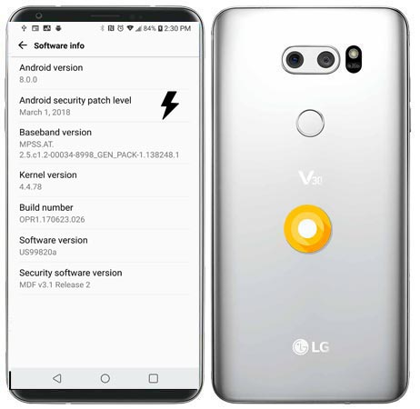 LG V30 US Unlocked US998 Oreo Firmware