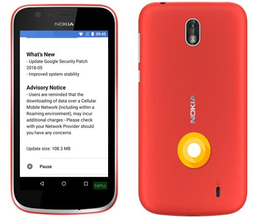 Nokia 1 Go Edition May 2018 OTA Official Update