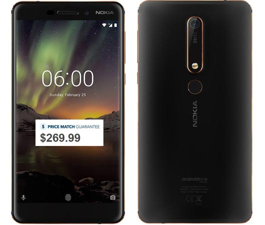 NOKIA 6.1 Available US Region USD 269