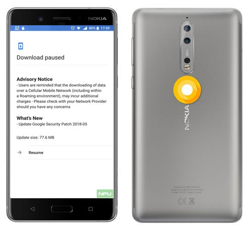 Nokia 8 May 2018 OTA Official Update