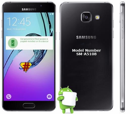 Samsung Galaxy A5 2016 SM-A5108 Marshmallow 6.0.1 CF-Root
