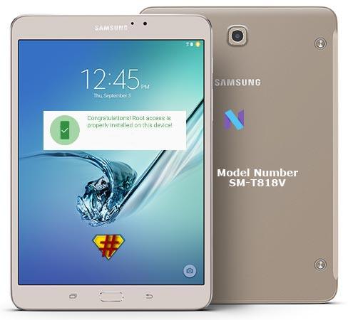 Samsung Galaxy Tab S2 Verizon Wireless USA SM-T818V Nougat 7.0 CF-Root