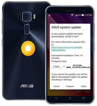 ASUS ZenFone 3 ZE552KL May 2018 Official OTA WW_15.0410.1804.60