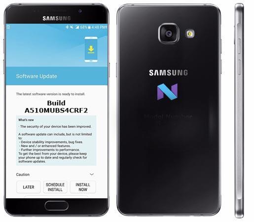 Samsung Galaxy A5 2016 SM-A510M June 2018 Official OTA A510MUBS4CRF2