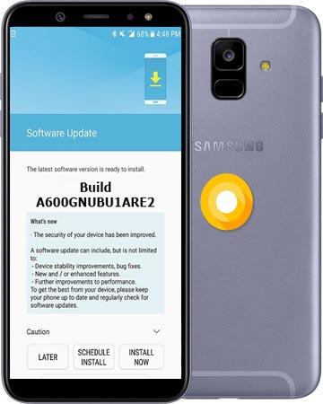Samsung Galaxy A6 2018 SM-A600G June 2018 Official OTA A600GNUBU1ARE2