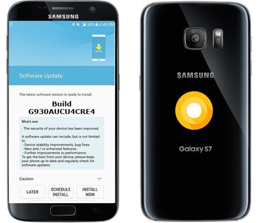 Samsung Galaxy S7 AT&T USA SM-930A Oreo Official OTA G930AUCU4CRE4