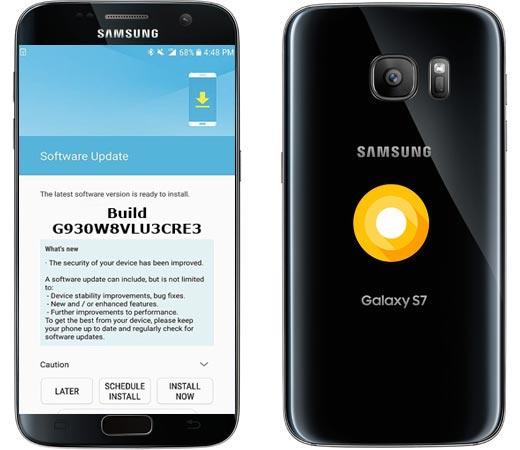 Samsung Galaxy S7 Canada SM-G930W8 Oreo Official OTA G930W8VLU3CRE3