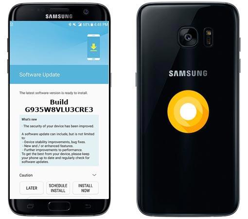 Samsung Galaxy S7 Edge Canada SM-G935W8 Oreo Official OTA G935W8VLU3CRE3