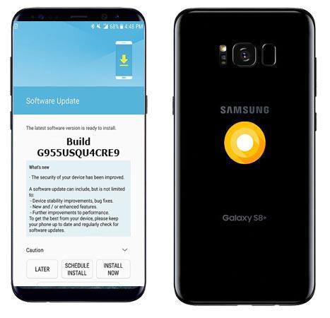 Samsung Galaxy S8 Plus Unlocked USA SM-G955U June 2018 Official OTA G955USQU4CRE9