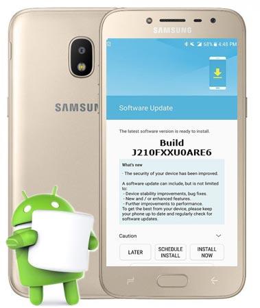Samsung Galaxy J2 2016 SM-J210F June 2018 Official OTA J210FXXU0ARE6