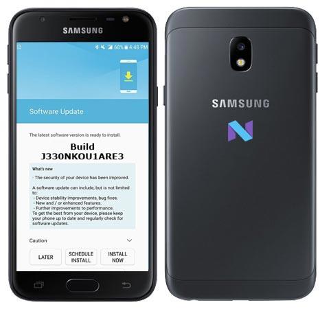 Samsung Galaxy J3 2017 SM-J330N June 2018 Official OTA J330NKOU1ARE3