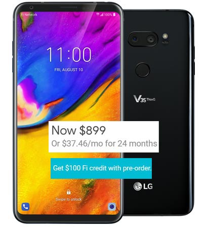 LG V35 ThinQ Project Fi Pre-Order Deal US Region USD 799