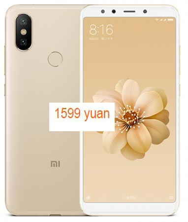 Xiaomi Mi 6X Available China Region CNY 1599