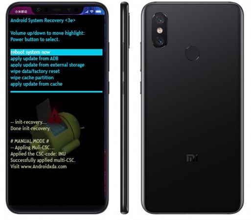 Xiaomi Mi 8 Modes and Respective Keys
