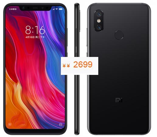 Xiaomi Mi 8 Pre-Order Available China Region CNY 2699