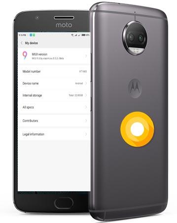 Moto G5 Plus MIUI 9 Oreo Port ROM