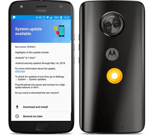 Moto X4 Amazon Prime Oreo Official OTA 8.0 Update