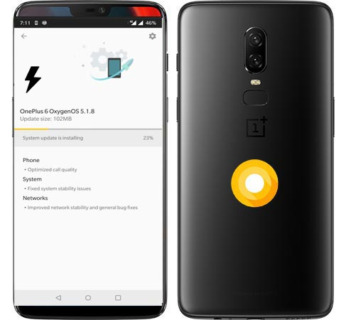 OnePlus 6 OxygenOS 5.1.8 Oreo Official ROM Installation