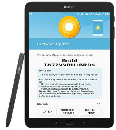 Samsung Galaxy Tab S3 SM-T827V Oreo Official OTA T827VVRU1BRD4