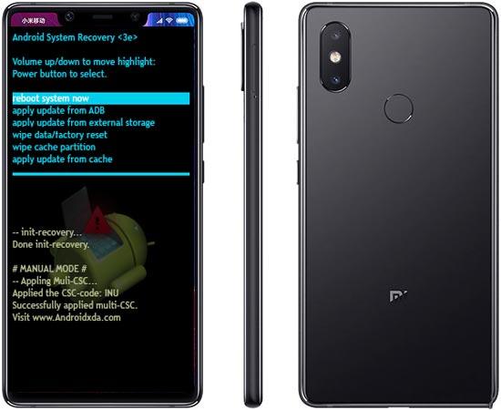 Xiaomi Mi 8 SE Modes and Respective Keys