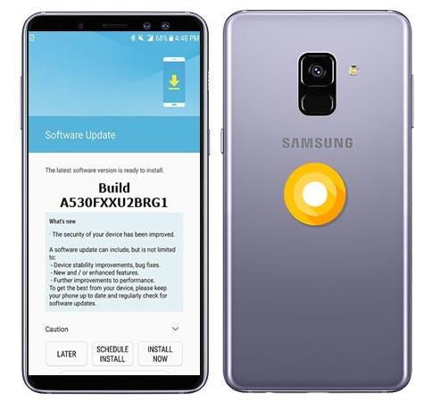 Samsung Galaxy A8 2018 SM-A530F Oreo Official OTA A530FXXU2BRG1