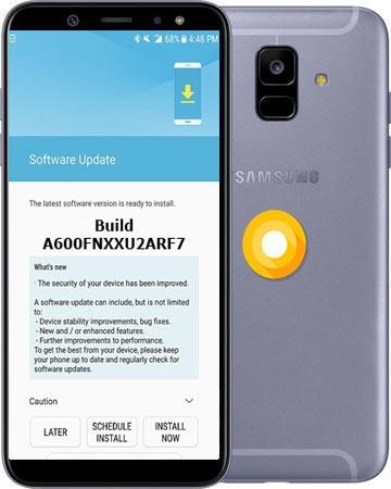 Samsung Galaxy A6 2018 SM-A600FN July 2018 Official OTA A600FNXXU2ARF7