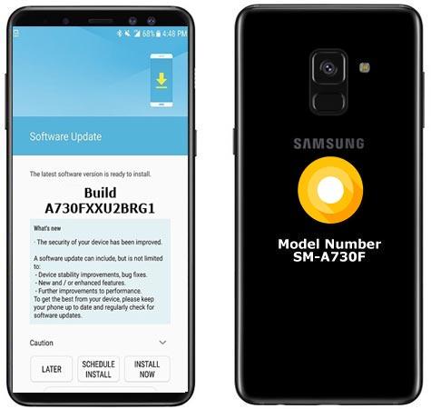 Samsung Galaxy A8 Plus 2018 SM-A730F Oreo Official OTA A730FXXU2BRG1