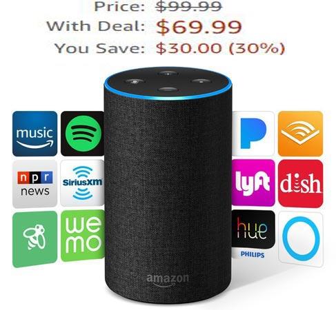 Amazon Echo 2nd Gen Prime Deal US Region USD 70