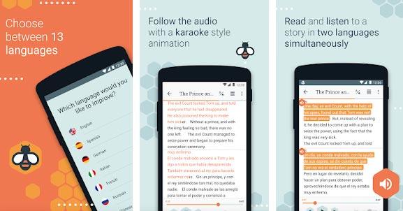 Beelinguapp-10 Essential Android Apps in this Summer 2018 Screenshot