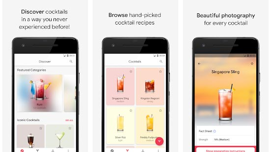 Cocktail Flow-10 Essential Android Apps in this Summer 2018 Screenshot