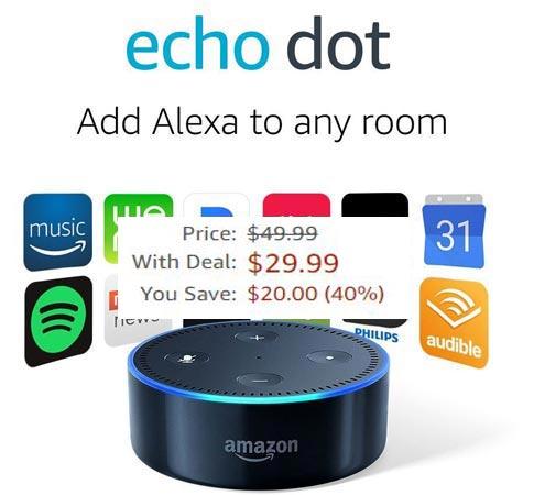 Amazon Echo Dot 2nd Gen Prime Deal US Region USD 30
