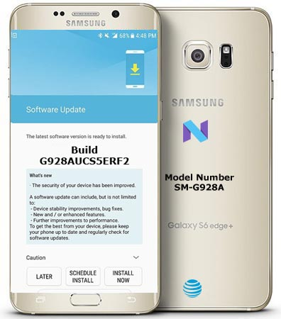 Samsung Galaxy S6 Edge Plus AT&T USA SM-G928A July 2018 OTA G928AUCS5ERG1