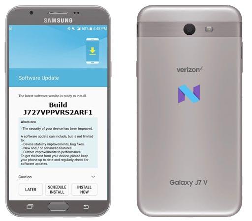 Samsung Galaxy J7 Prepaid Verizon SM-J727VPP July 2018 Official OTA J727VPPVRS2ARF1