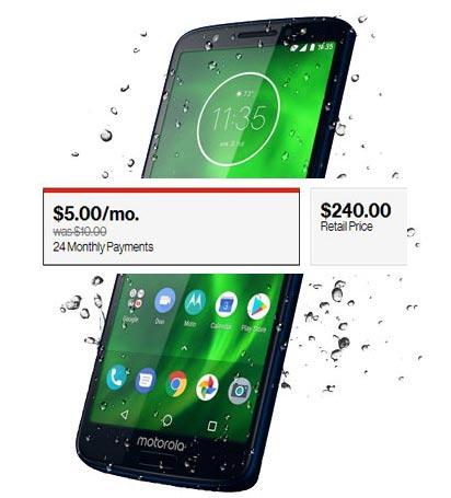Moto G6 32 GB Verizon Wireless USA Deal USD 120