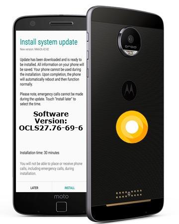 Moto Z Droid Verizon Wireless USA July 2018 OTA OCLS27.76-69-6