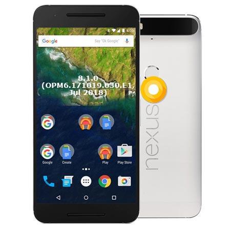 Google Nexus 6P OPM6.171019.030.E1 Oreo 8.1 Firmware Official