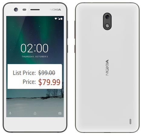 Nokia 2 Amazon Deal US Region USD 80