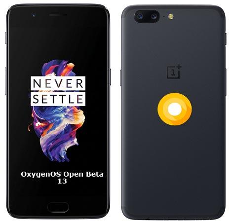 OnePlus 5 OxygenOS Open Beta 13 ROM