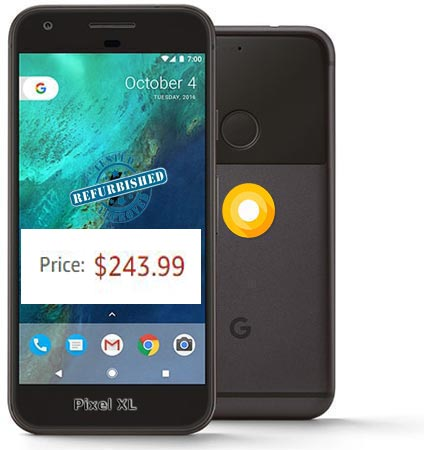 Google Pixel XL Refurbished Amazon Deal USD 244