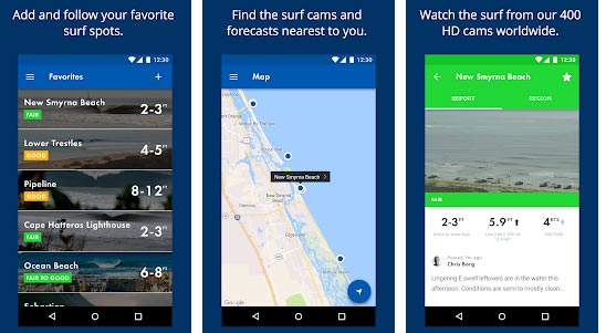 Surfline Surf Cams-10 Essential Android Apps in this Summer 2018 Screenshot