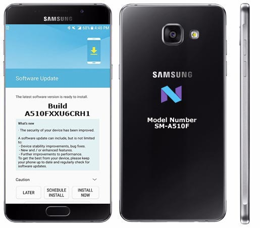 Samsung Galaxy A5 2016 SM-A510F August 2018 OTA A510FXXU6CRH1