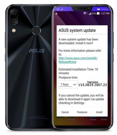 Asus ZenFone 5Z ZS621KL July 2018 Official OTA WW-80.11.37.95