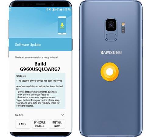 Samsung Galaxy S9 AT&T USA SM-G960U August 2018 OTA G960USQU3ARG7