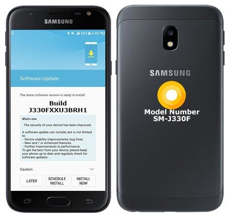 Samsung Galaxy J3 2017 SM-J330F Oreo Official OTA J330FXXU3BRH1
