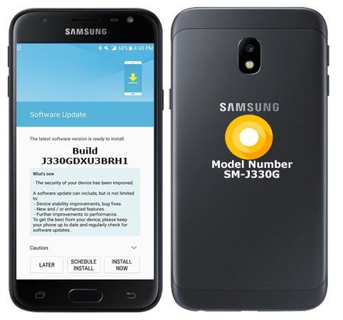 Samsung Galaxy J3 Pro SM-J330G Oreo Official OTA J330GDXU3BRH1