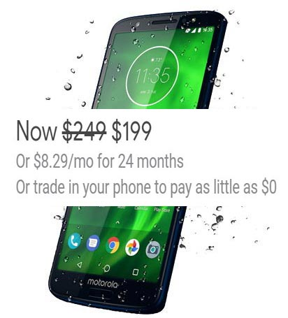 Moto G6 32 GB Project Fi Deal US Region USD 199