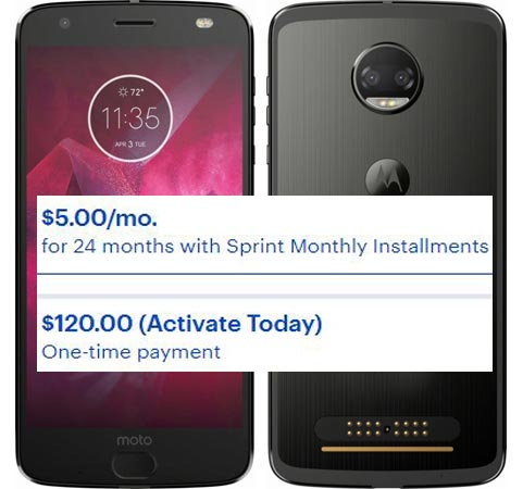 Moto Z2 Force Edition Best Buy Sprint USA Deal USD 120